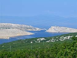 The bridge which connects the mainland with the island Krk (Croatia)